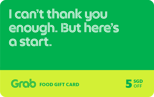 $5 Grab gift card [Redeem for free with 2,500 points]