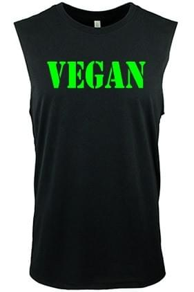 Vegan Wide Sleeve Mens Tank