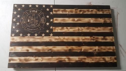 Custom Made USA Wooden Flag