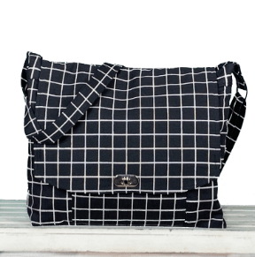 Messenger Bag Black Check