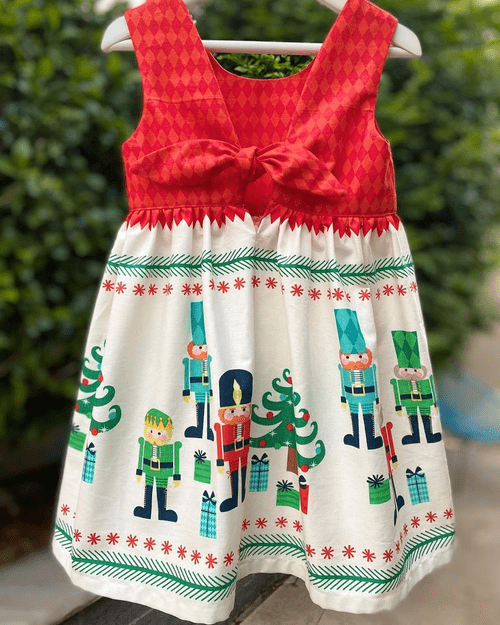 Bow Dress - Nutcracker Christmas
