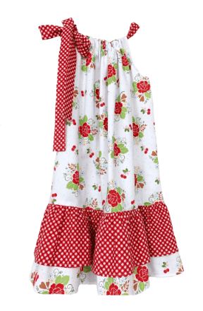 Ruffle Dress - Red Rose