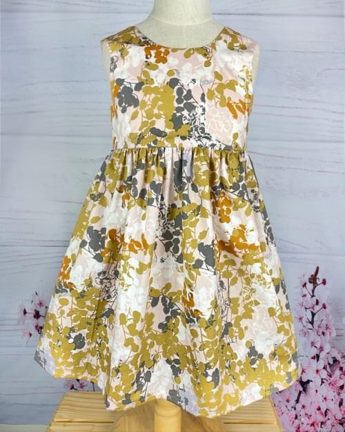 Winnie Bow Dress - Shades of Autumn