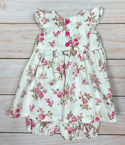 Roses Dress & Bloomers Set