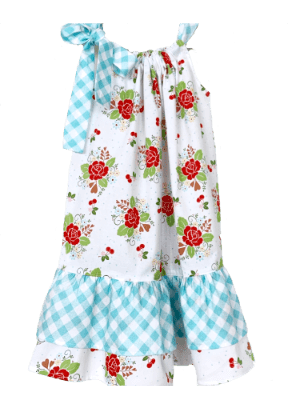 Ruffle Dress - Rose Garden