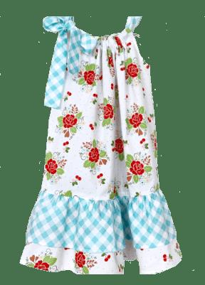 Emma Ruffle Dress - Rose Garden