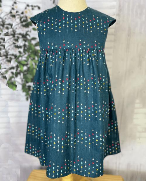 Avery Cap Sleeve Dress in Blue