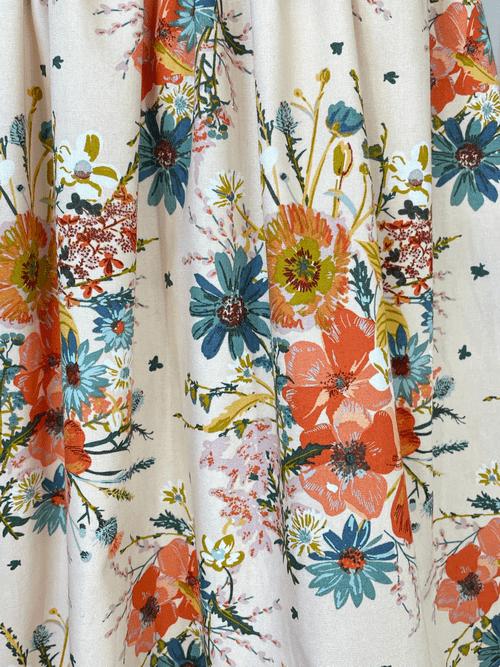 Winnie Bow Dress - Summer Blooms