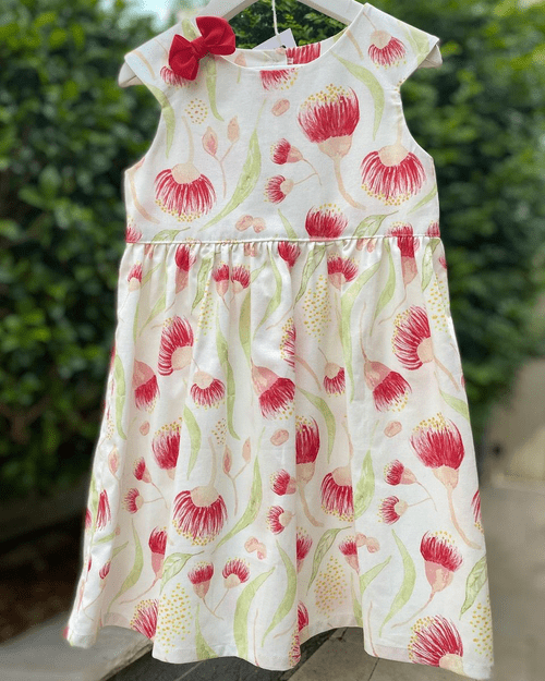 Cap Sleeve Dress - Bush Gum Blossom