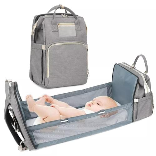 Diaper Backpack Bag,  Travel Foldable bed
