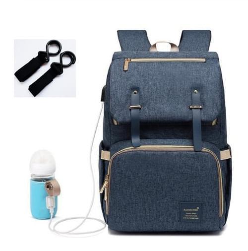 Waterproof Diaper backpack with bottle warmer