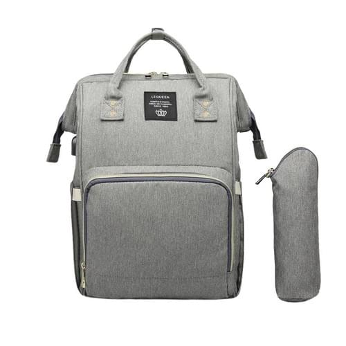 Diaper backpack bag with bottle warmer
