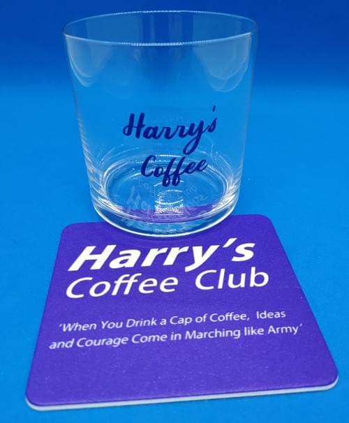 ぴったりサイズ、アイス用hcc特製オリジナルグラス(245ml、珈琲と一緒のお買い上げで送料無料*)