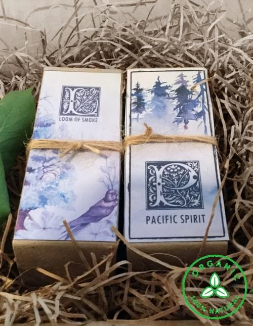 Father's Day Gift Box Cologne, 2 for, Loom of Smoke and Pacific Spirit, foggy Woods, Fir, Pine, Wood
