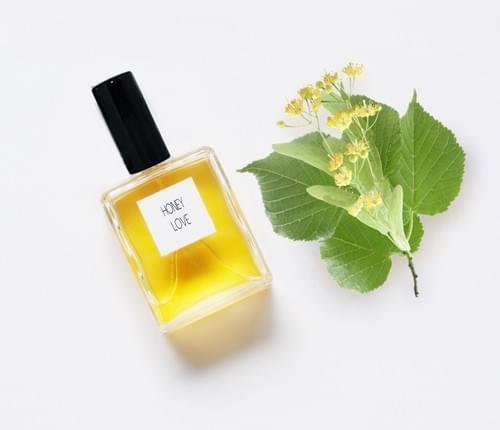 HONEY LOVE Perfume, Linden Blossom, white Honeyed florals, Sunny Flowers NATURAL Botanical
