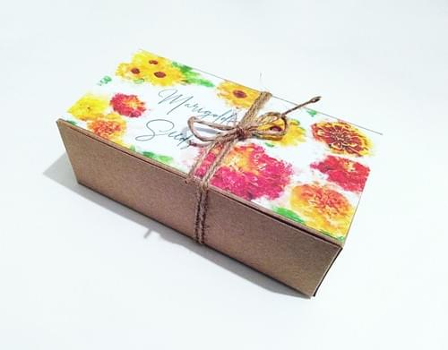 Miss You Gift Box, Friend Gift, Marigold Seeds Glass Tube, Personalized Gift Under 30