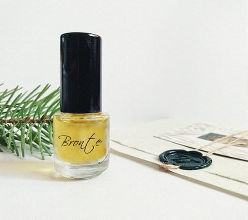 Bronte Perfume with Moss, Fainest Lavender, Violet, Citrus Peach Lemon Lime Meringue Pie