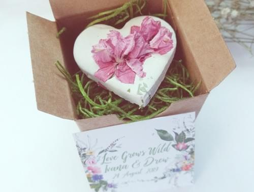 80 Rustic Wildflower Seed Bomb Wedding Favors for Guests Personalized Cards