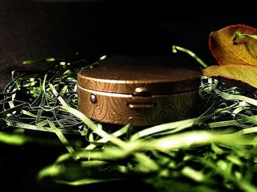 Brass Solid Perfume Compact, Natural Perfume, Botanical Fragrance