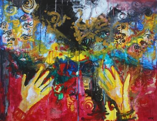 brain on paint