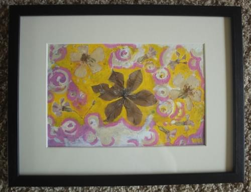 untitled yellow and pink painting