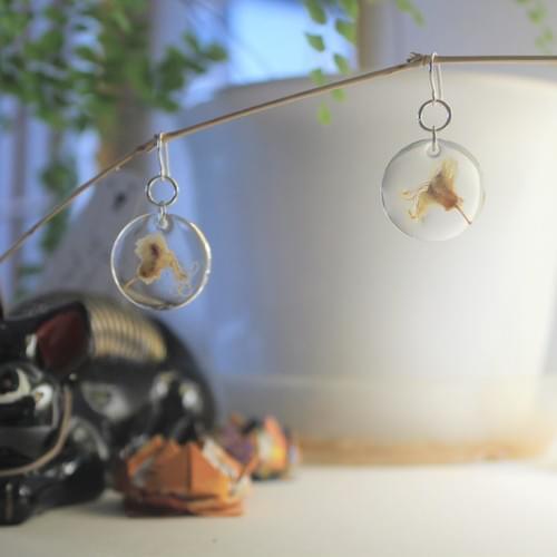 chestnut earrings