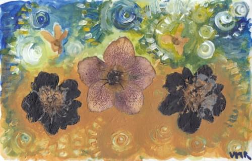 untitled bubbled hellebore painting