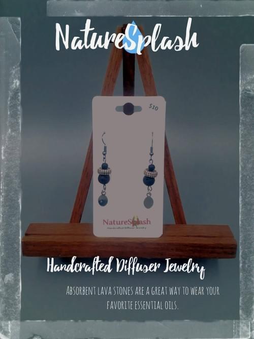 Lava Bead Aroma Earrings