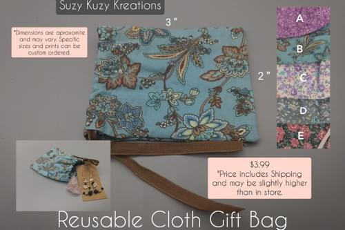 Reuseable Cloth Gift Bag