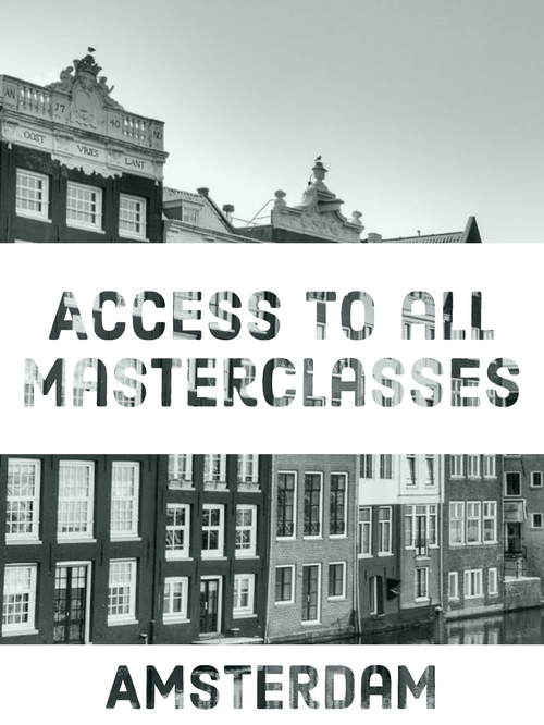 Access to all Masterclasses, October, Amsterdam