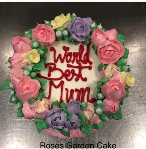 Mother's Day Roses Garden Cake