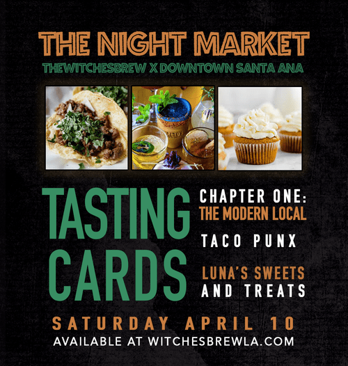 The Night Market TASTING CARD 04/10