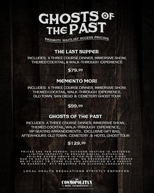 Old Town SD - Ghosts of The Past VIP Package
