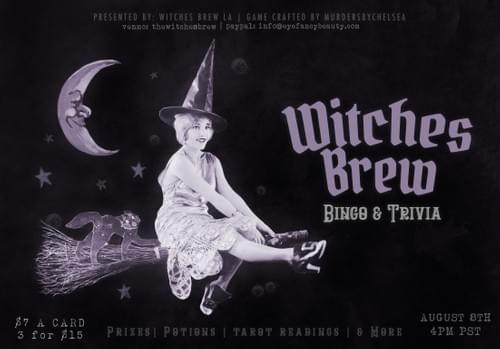 BINGO CARD - Witches Brew Bingo (08/08/2020)
