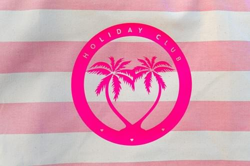 pink striped Beachbag HOLIDAY CLUB