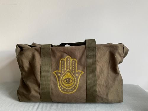 Hamsa Travel Bag - gold