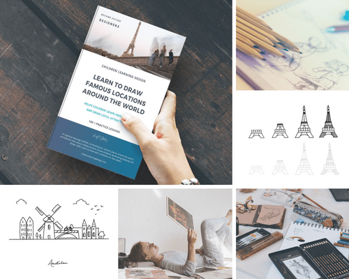 Learn to Draw Places around the World - Children Learning Design - FREE Download !