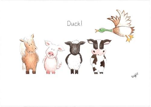 Duck! - print