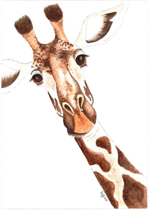 Ginger the Giraffe - print