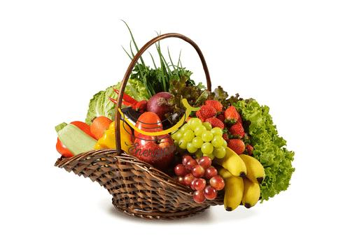 Mélange de légumes et de fruits de 8 à 9kg