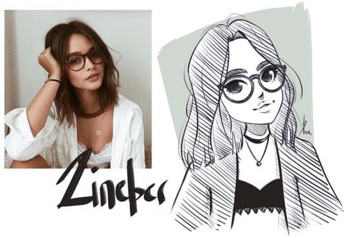 portrait version dessin animé