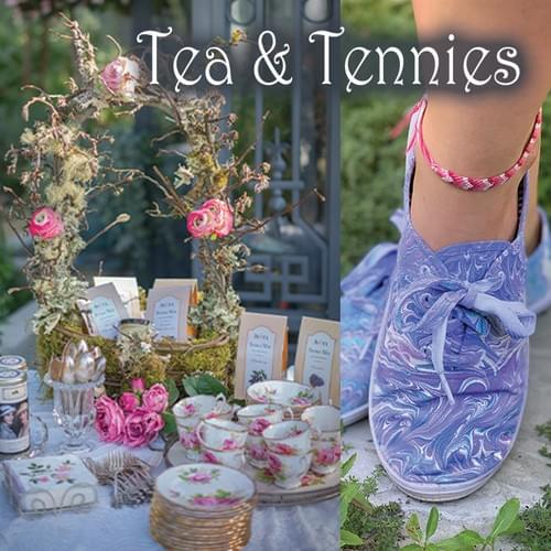 Tea & Tennies - Water Marbling