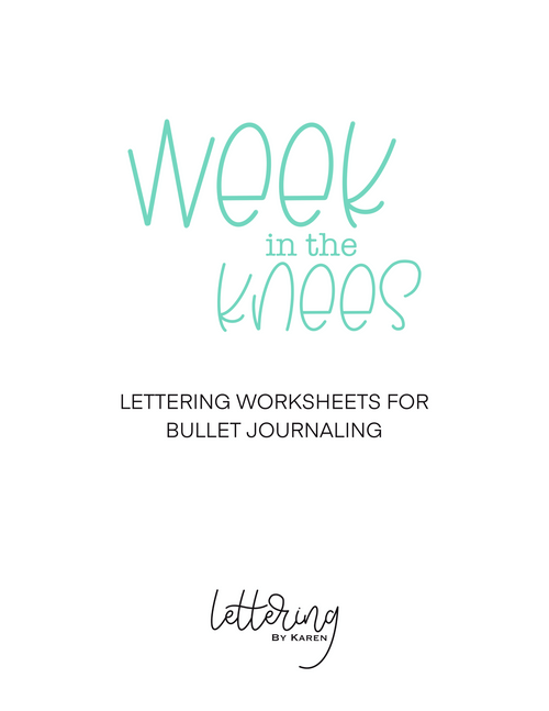 Lettering Worksheets for Bullet Journaling