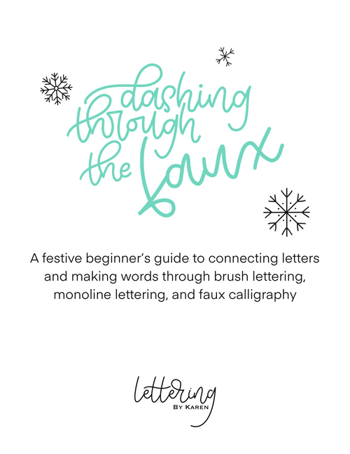 Holiday Lettering Worksheets