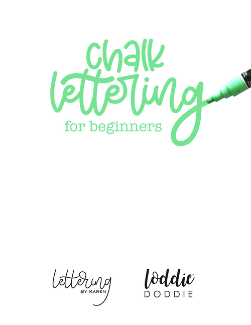 Chalk Lettering for Beginners Workbook