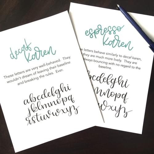 Brush Lettering Worksheets - Bonus Pack