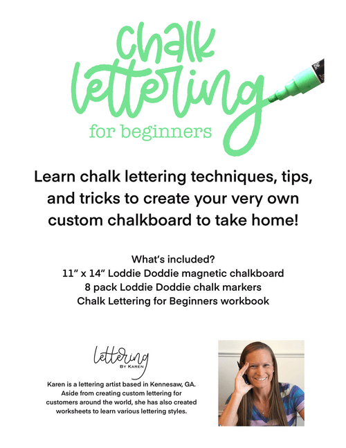 PRIVATE EVENT:  Chalk Lettering for Beginners
