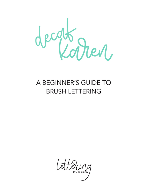 Beginner Brush Lettering Worksheets