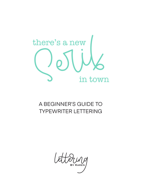 Serif Lettering Worksheets
