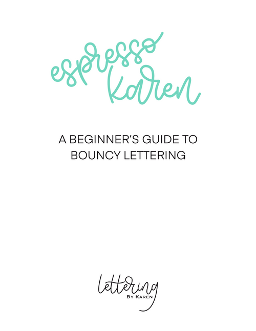 Bouncy Brush Lettering Worksheets